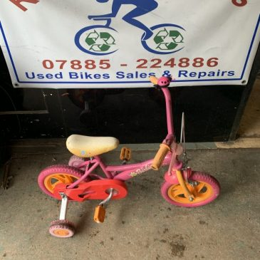 "Barbie 12"" Wheel Girls Bike. £25"