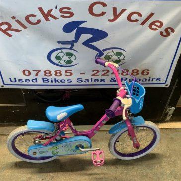 """Shopkins 16"""" Wheel Girls Bike. £25"""