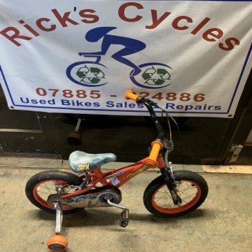 "Cars Lighting Macqueen 14"" Wheel BMX Bike. £35"