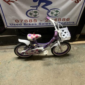 "Spike Hearts & Flowers 14"" Wheel Girls Bike. £25"