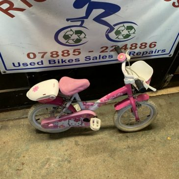 "Hello Kitty 14"" Wheel Girls Bike. £20"