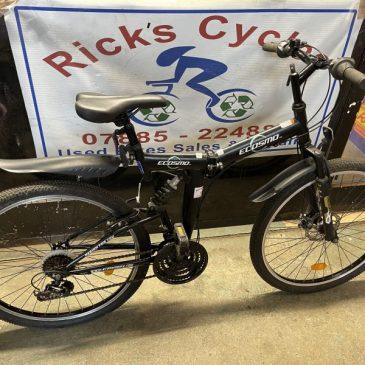 "Folding Ecosmo 18.5"" Frame Folding Mountain Bike. £120"