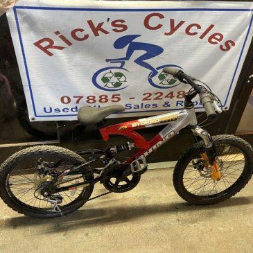 "Rhino Stoked 20"" Wheel Mountain Bike. £45"