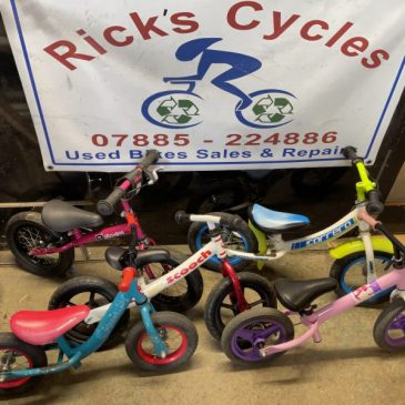 Selection of Balance Bikes. From £10 each