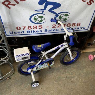 "Apollo Police 14"" Wheel Boys Bike. £30"