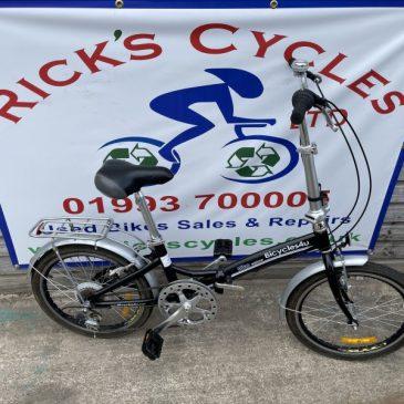 """Folding 20"""" Wheel Bike. Refurbished. £125"""