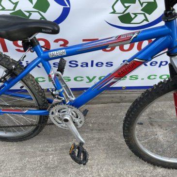 "Raleigh Raptor24 24"" Wheel Mountain Bike. £75"