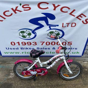 "Hello Kitty 16"" Wheel Girls Bike. £35"