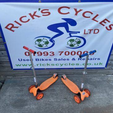 Kids 3 Wheel Scooter Bike. £15 Each