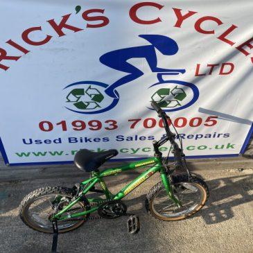 "Universal Turbocharged 16"" Wheel Boys Bike. £30"