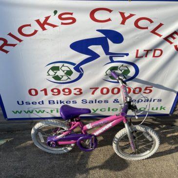 "Magna GirlTalk 16"" Wheel girls Bike. £30"